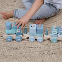Little Dutch houten Blokkentrein blauw-2