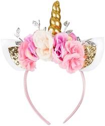 Souza Tiara Eenhoorn bloemen-blaadjes, roze (1 stuk)
