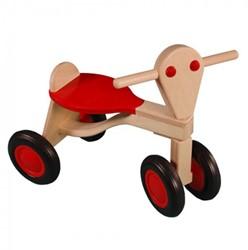 Van Dijk Toys houten loopfiets beuken Rood