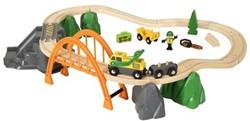 Brio  houten trein set Lumber Loading Set 33789