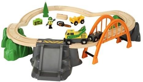 Brio  houten trein set Lumber Loading Set 33789-2