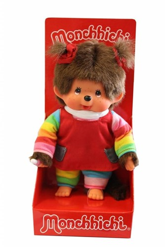 Monchhichi  knuffelpop Regenboog meisje - 20 cm-2