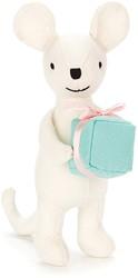Jellycat knuffel Mini Messenger Mouse -16cm