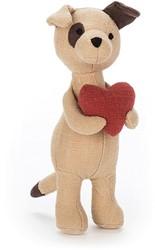 Jellycat knuffel Mini Messenger Puppy -17cm