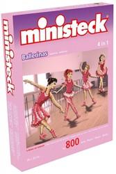 Ministeck  knutselspullen Ballerina 4 in 1 800 stukjes