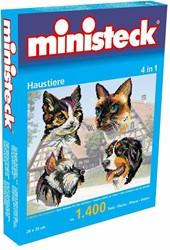 Ministeck  knutselspullen Huisdieren 4in1 1400 stukjes