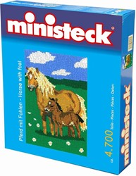 Ministeck  knutselspullen Paard met veulen 4700 stukjes