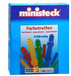 Ministeck  knutselspullen Kleuren assortiment 9500 stukjes