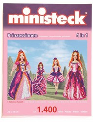 Ministeck  knutselspullen - Prinsessen - 4 in 1 1400 stukjes
