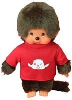 Monchhichi  knuffelpop Jongen met T-shirt Rood - 20 cm-1