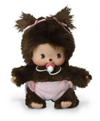Monchhichi  knuffelpop Baby meisje - 16 cm