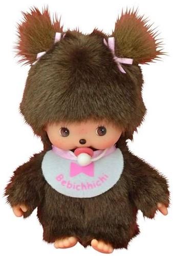 Monchhichi knuffelpop Meisje Basic - 16 cm