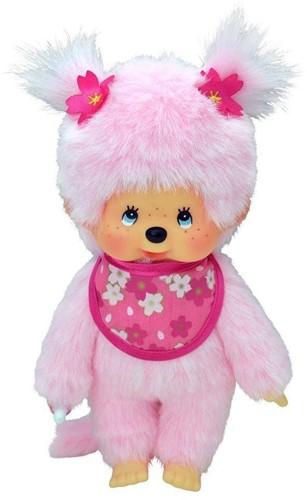 Monchhichi  knuffelpop Meisje Cherry Blossom roze - 20 cm-1