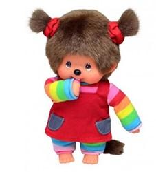 Monchhichi  knuffelpop Regenboog meisje - 20 cm