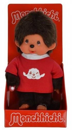 Monchhichi  knuffelpop Jongen met T-shirt Rood - 20 cm-2