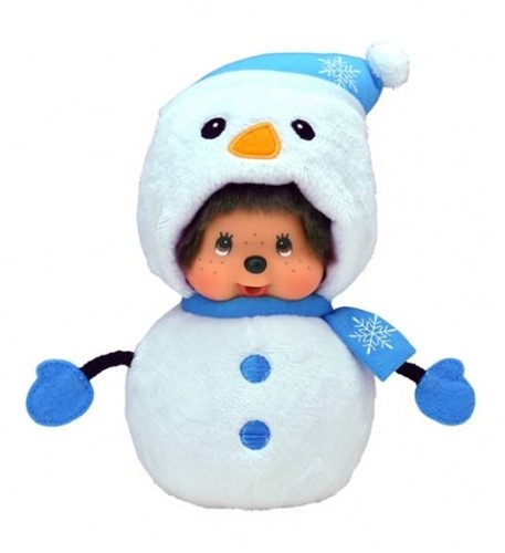 Monchhichi  knuffelpop Sneeuwpop - 20 cm-1
