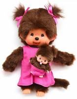 Monchhichi knuffelpop Mother Care Pink - 20 cm