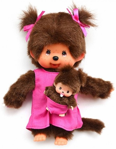 Monchhichi knuffelpop Mother Care Pink - 20 cm-2