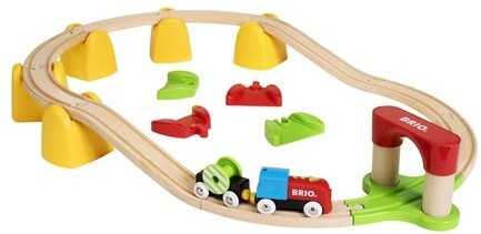 Brio  houten trein set My First Railway B/O Train Set 33710-1