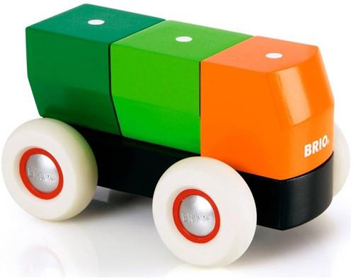 Brio  houten bouwblokken Vrachtauto met magnetische blokken 30136-1