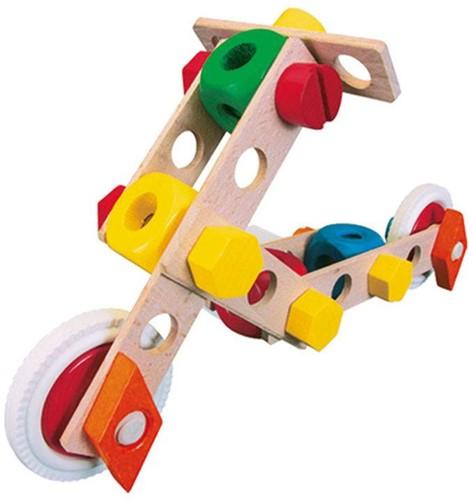 Baufix  houten constructie speelgoed Vliegtuig 10200-3