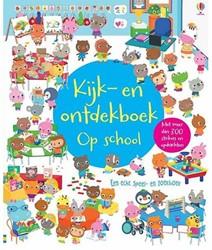 Usborne  doeboek Kijk en ontdekboek op school