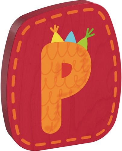 Houten letter P