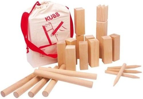 Philos houten buitenspel Kubb - Berkenhout