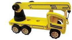 Pintoy houten speelvoertuig mobile crane