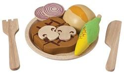 Plan Toys  houten keuken accessoires Steak set