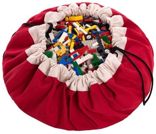 Play&Go  speelgoed opbergzak Rood