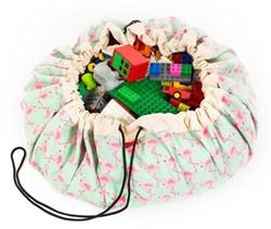 Play&Go  speelgoed opbergzak Flamingo