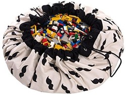 Play&Go  speelgoed opbergzak Mr. Moustache design