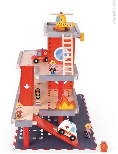 Janod  Story speelstad gebouw Garage - brandweerkazerne-2