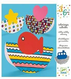 Djeco Wibbly-wobbly colouring-1