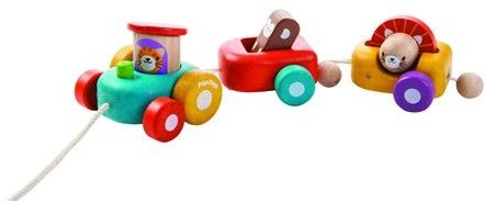 Plan Toys  houten trekfiguur Happy Engine-1