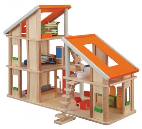 Plan Toys  houten poppenhuis Chalet dollhouse & furniture