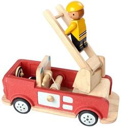 Plan Toys  houten speelvoertuig Fire Engine