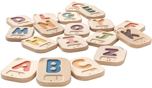 Plan Toys houten Braille Alfabet
