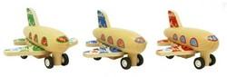BigJigs  speelvoertuig Pull-back vliegtuigje