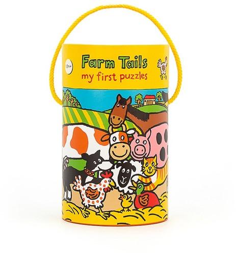 Jellycat puzzel Boerderij Staarten - 20 stukjes