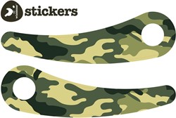 Wishbonebike loopfiets accessoires recycled Stickers Camouflage groen