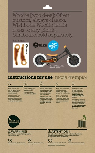 Wishbonebike loopfiets accessoires Stickers Wood Recycled-3