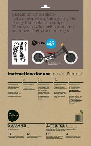 Wishbonebike loopfiets accessoires Stickers Zebra Recycled-3