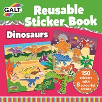 Galt stationery - Boek met herbruikbare stickers - Dinosaurussen