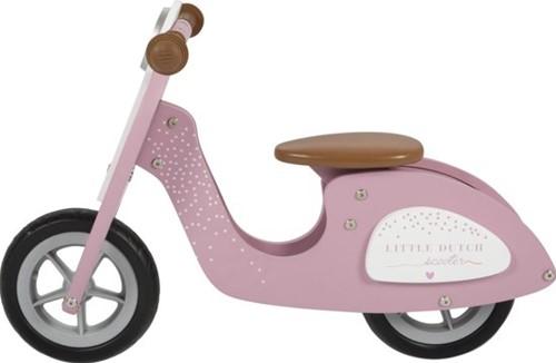 Little Dutch Little Dutch houten scooter  roze