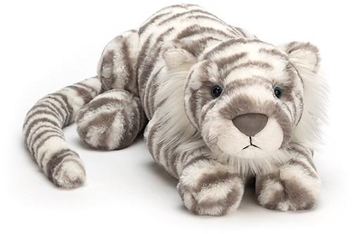 Jellycat knuffel Sacha Sneeuw Tijger Super Groot 74cm