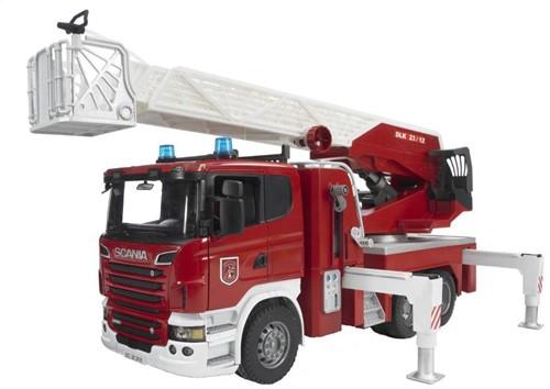 Bruder Scania brandweer ladderwagen met waterpomp, licht & geluid - 3590