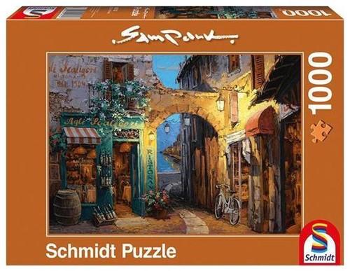 Schmidt legpuzzel Steegje bij het Como meer, 1000 stukjes