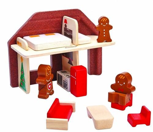 Plan Toys Plan City houten gebouw Huis van koekjes
